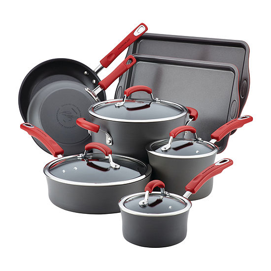 Rachael Ray 12-pc.Aluminum Non-Stick Cookware Set