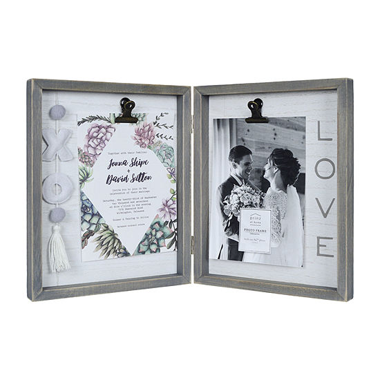 New View Love Hinged Xoxo Tassel Clip Tabletop Frame