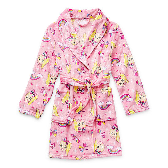 Little & Big Girls Plush JoJo Siwa Long Sleeve Mid Length Robe