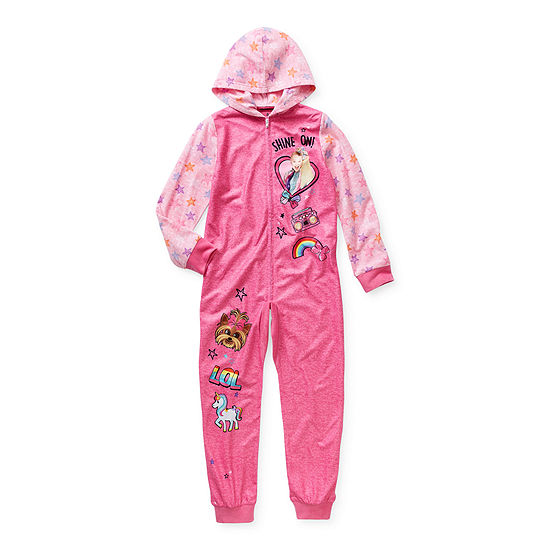 Little & Big Girls Microfleece Long Sleeve One Piece Pajama