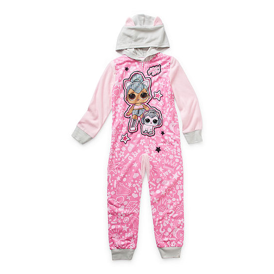 Little & Big Girls Microfleece LOL Long Sleeve One Piece Pajama