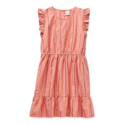 Arizona Little & Big Girls Short Sleeve A-Line Dress