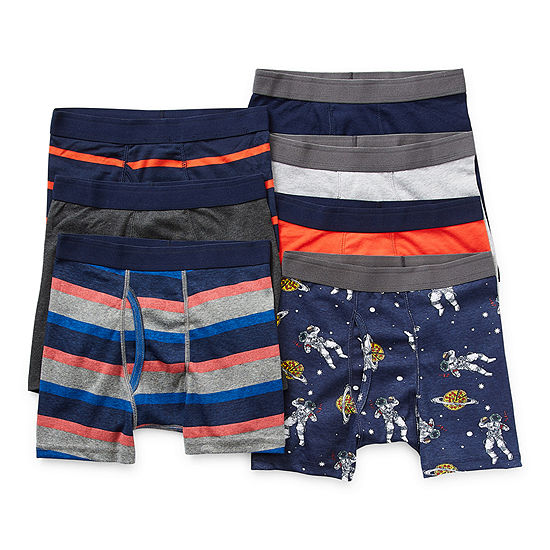 Arizona Little & Big Boys 7 Pack Boxer Briefs
