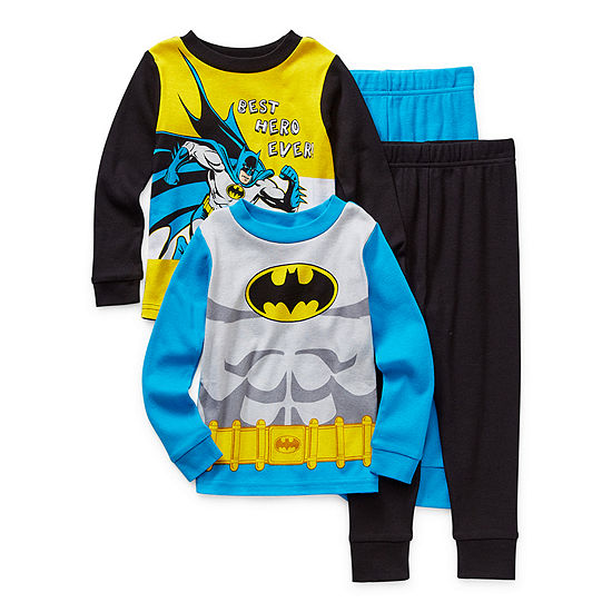 Toddler Boys 4-pc. Batman Pajama Set