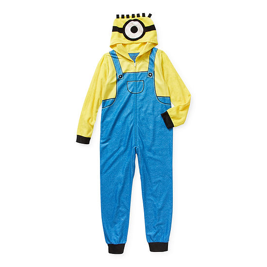 Little & Big Boys Microfleece Minons Long Sleeve One Piece Pajama