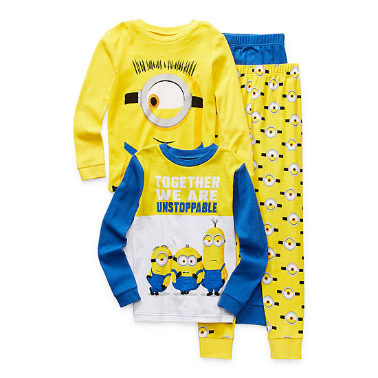 Little & Big Boys 4-pc. Minons Pajama Set