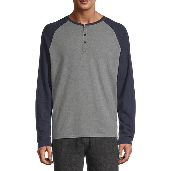Stafford Mens Long Sleeve Henley Lounge Pajama Top