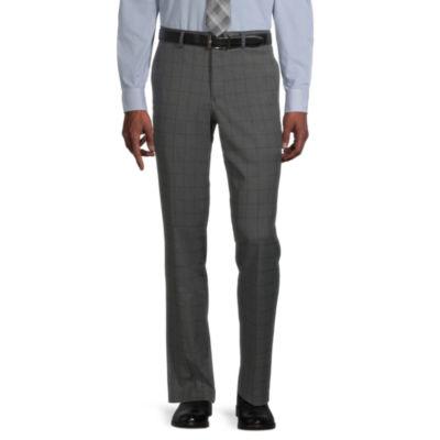 JF J.Ferrar Ultra Mens Checked Stretch Super Slim Fit Suit Pants