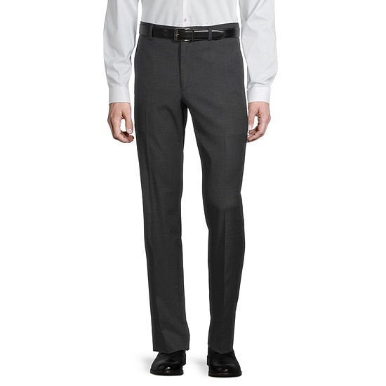 JF J.Ferrar Ultra Mens Checked Stretch Slim Fit Suit Pants