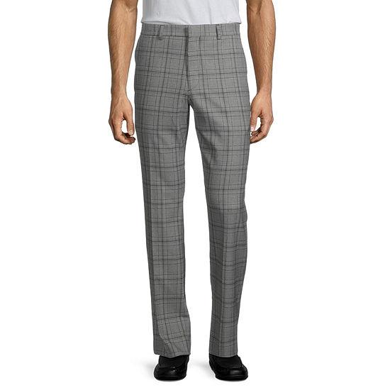 JF J.Ferrar Ultra Stretch Mens Checked Super Slim Fit Suit Pants
