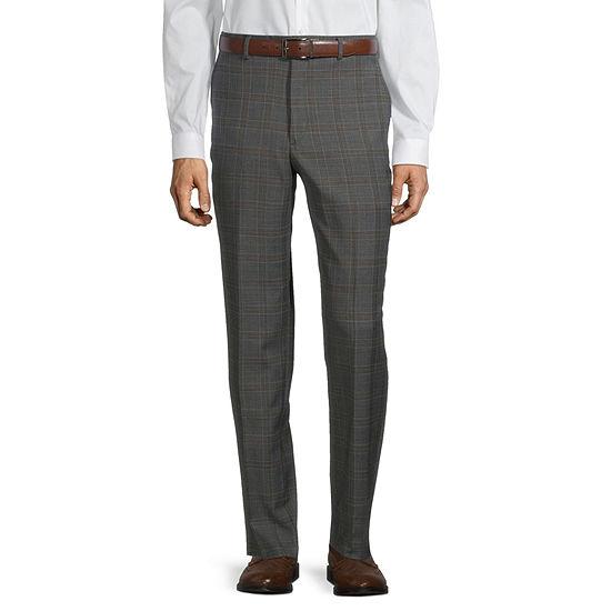 Stafford Mens Plaid Stretch Regular Fit Suit Pants