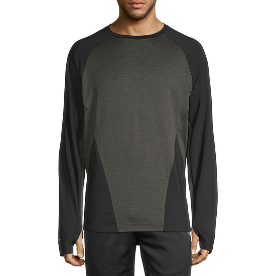 Xersion Color Block Mens Crew Neck Long Sleeve Sweatshirt