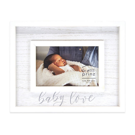 New View Weathered Baby Love Tabletop Frame