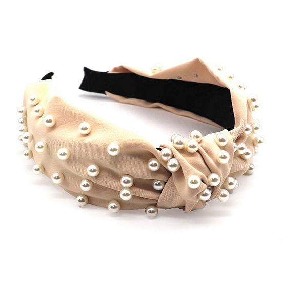 Mixit Simulated Pearl Knot Headband