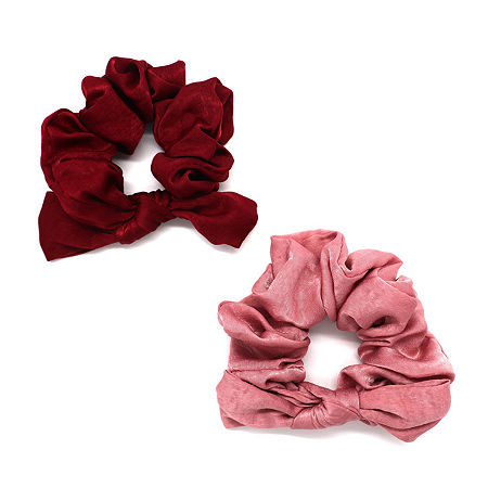 Mixit Blush Scrunchie Hair Ties 2-pc., One Size , Pink