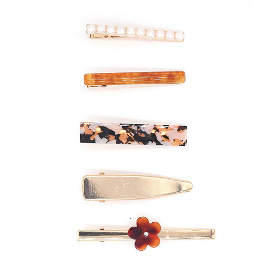 Mixit Resin And Simulated Pearl 5-pc. Hair Clip