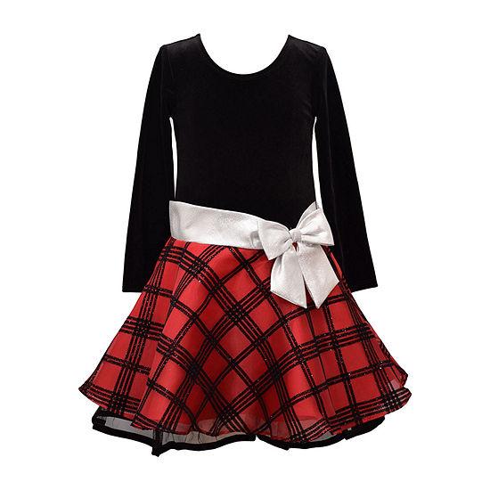 Bonnie Jean Little Girls Long Sleeve Party Dress