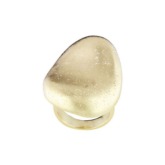 18K Gold-Plated Concave Ring