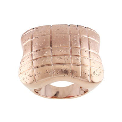18K Rose Gold-Plated Square Ring