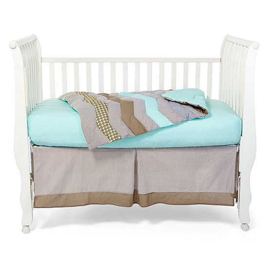 Trend Lab Cocoa Mint 3 Pc Baby Bedding