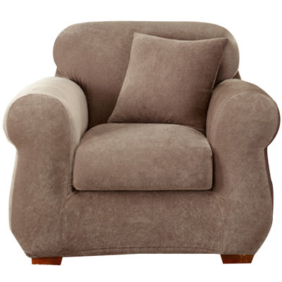 SURE FIT® Stretch Piqué 3 Pc. Chair Slipcover