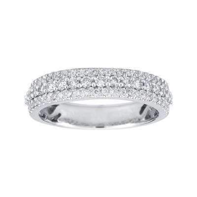 1/2 CT. T.W. Certified Diamond 14K White Gold Band