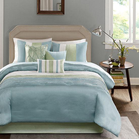 Madison Park Chester Colorblock 7 Pc Comforter Set