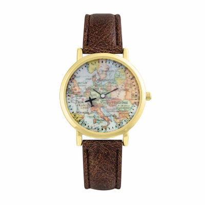 Decree Womens Brown Strap Watch-Pt2368gddb