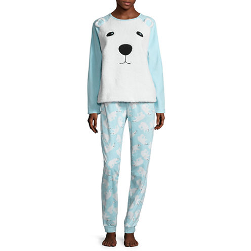 Polar Bear Plush Pajama Set-Juniors