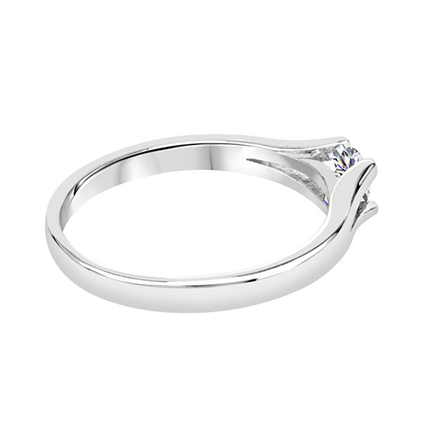 Womens Lab Created White Sapphire Sterling Silver Solitaire Ring