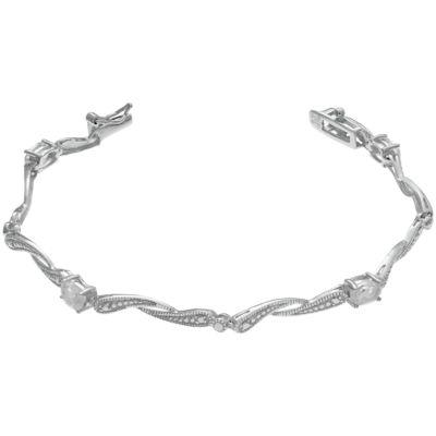 Sterling Silver 7.25 Inch Solid Link Link Bracelet