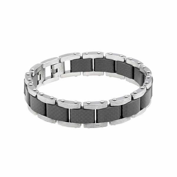 Fine Jewelry Mens 8.25 Inch Stainless Steel Link Bracelet dYLufdgXF