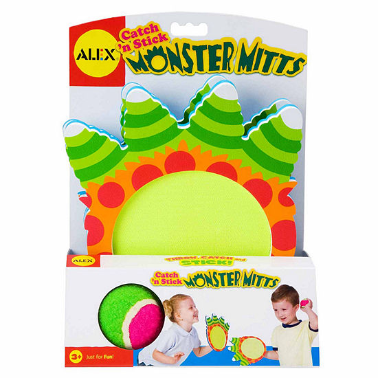 Alex Toys Active Play Catch N Stick Monster Mitts 3 Pc Combo Game Set