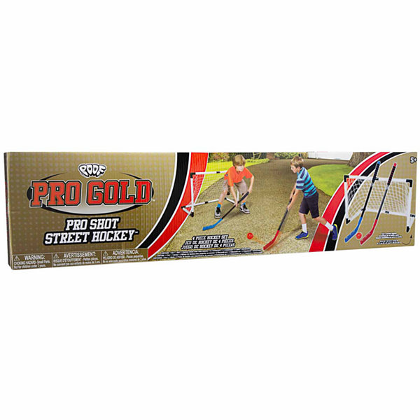 Poof Pro Gold Pro Shot Street Hockey 4-pc. Combo Game Set