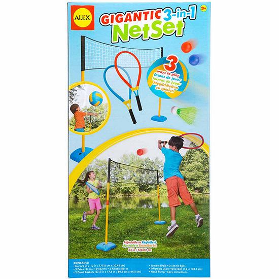 Alex Toys Active Play Gigantic 3 In 1 Net Set 12-pc. Combo Game Set