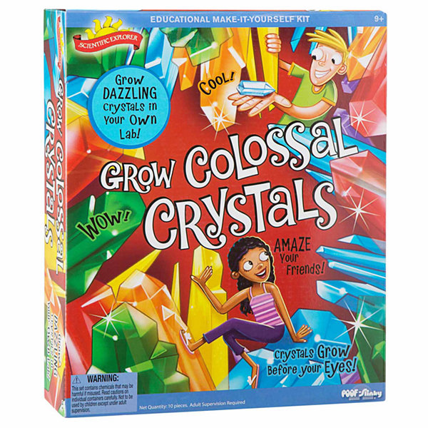 Scientific Explorer Grow Colossal Crystals Kit 10-pc. Discovery Toy