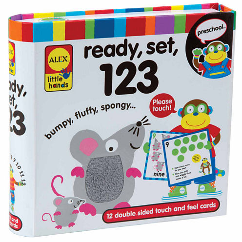 ALEX TOYS Little Hands Touch And Feel Flash Cards 123 13-pc. Interactive Toy - Unisex