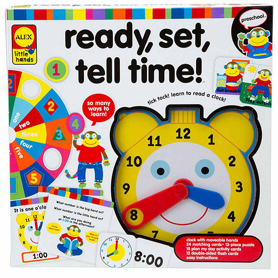 ALEX TOYS Little Hands Ready Set Tell Time 67-pc. Interactive Toy - Unisex