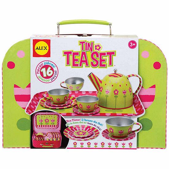 Alex Toys Tin Tea Set 16 Pc Play Food