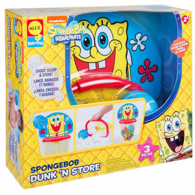 Alex Toys Spongebob Dunk N Store Bath Toy