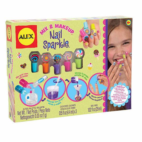 Alex Toys Spa Mix And Make Up Nail Sparkle Kit Beauty Toy