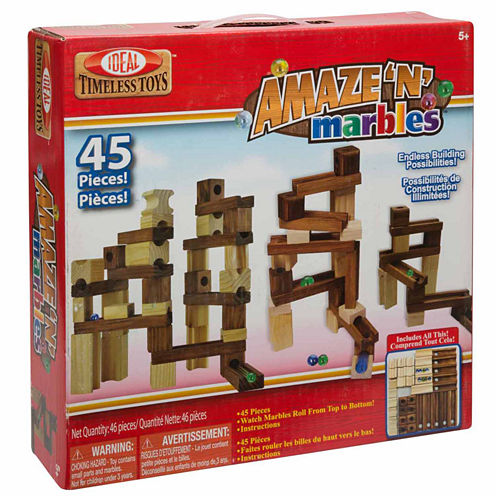 Ideal Amaze 'N' Marbles 45 Piece Classic Wood 45-pc. Interactive Toy - Unisex