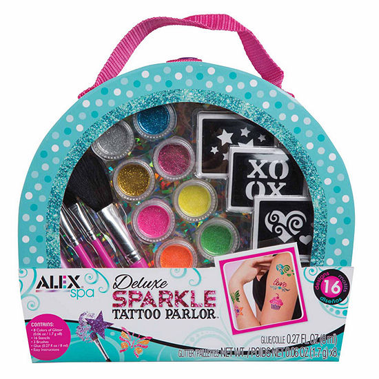 Alex Toys Spa Delux Sparkle Tattoo Parlor 30 Pc Beauty Toy