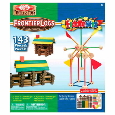 Ideal Frontier Logs And Fiddlestix 143 Piece Discovery Toy