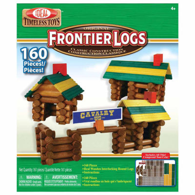 Ideal Frontier Logs Classic Wood 160 Piece Discovery Toy
