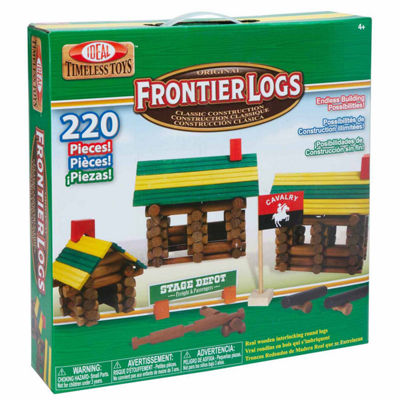 Ideal Frontier Logs Classic Wood 220 Piece Discovery Toy