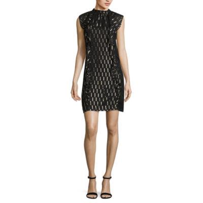 Worthington Sleeveless Pattern Shift Dress