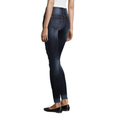 Wallflower Destructed Sequin Skinny Fit Jean-Juniors