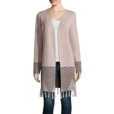 Alyx Long Sleeve Round Neck Open Front Cardigan