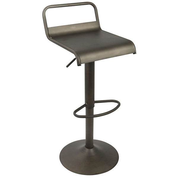 Emery Height Adjustable Contemporary Barstool withSwivel by LumiSource